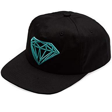 DIAMOND BRILLIANT UNCONSTRUCTED HAT BLACK