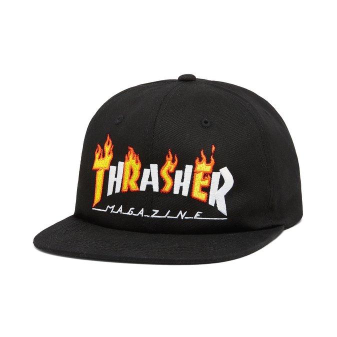 cappellini thrasher flame mag snapback black